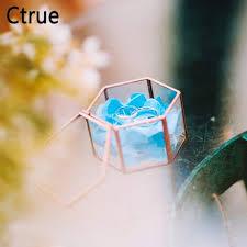 custom mini diy wedding glass ring box