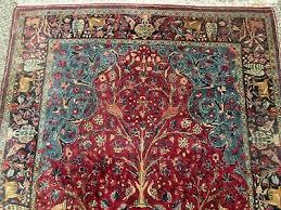 persian birds of paradise wool rug