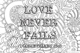 Blog Design Love Never Fails Coloring