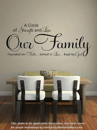 Our Family A Circle Of Strength And Love Wall Quote Vinyl Etsy Home Decor Dining Room Walls Home