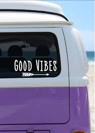 Good Vibes Vinyl Decal Car Decal Laptop Sticker Window Decal Bumper Sticker Quote Decal Positive Vibes Sticker Arrow Sticker