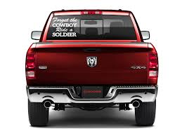 Forget The Cowboy Ride A Soldier Car Decal Sticker Sunset Graphics Rear Window Decals Truck Decals Car Decals Stickers
