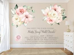 Wall Fabric Decals Pink Forest Cafe