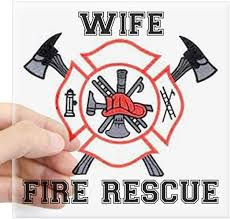 Amazon Com Cafepress Fire Fighters Wife Square Sticker 3 X 3 Square Bumper Sticker Car Decal 3 X3 Small Or 5 X5 Large Home Kitchen