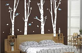 20 Beautiful Trees Branches Vinyl Wall Decals Wall Art Stickers For Bedroom Living Room