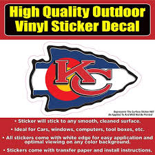 Kansas City Chiefs Kc Chiefs Many Designs Football Vinyl Car Window B Colorado Sticker