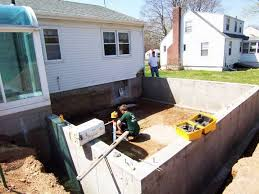 crawl space foundation poured for