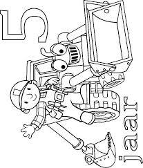 Kids N Fun Kleurplaat Bob De Bouwer Verjaardag Bob En Scoop 5 Jaar