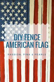 Passion Pink Pearls Diy Fence American Flag