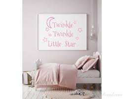 Twinkle Twinkle Little Star Decals Stars Nursery Decor Baby Room Wall Stickers Star Kids Room Wall