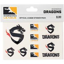 Shanghai Dragons Overwatch League 10 Pack Team Car Stickers