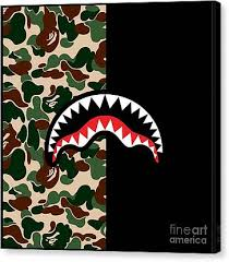 Bape Canvas Prints Fine Art America