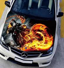 Left Side Car Stickers Flame Motorcycle Fire Engine Hood Decal Styling Decor Carbon Vinyl Cover Waterproof Paint Protection Film Paint Protection Film Protective Filmcar Sticker Aliexpress