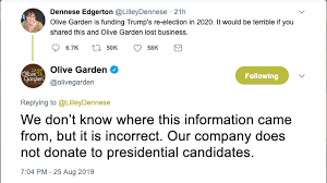 olive garden calls out fake claims they