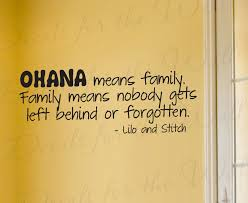 Lilo And Stitch Ohana Family Wall Decal Quote B85 Printing Jay