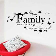 Ffamily Love Never Ends Quote Vinyl Wall Decal Wall Lettering Art Word Wall Sticker Home Decoration Wedding Decoration Wall Stickers Aliexpress