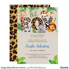 Invitacion De Baby Shower De La Selva Muchacho Zazzle Com