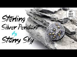 sterling silver pendant as starry sky