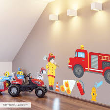 Firetruck Printed Wall Decal Kids Room Wall Decor Etsy Kids Room Wall Decals Kids Wall Decals Kids Room Wall Decor