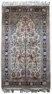 kashmir pure silk carpet tree of