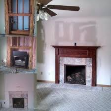 mendota gas fireplace light framing