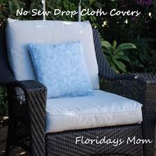 no sew drop cloth cushion covers diy