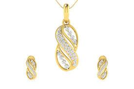 celina diamond earrings pendant set