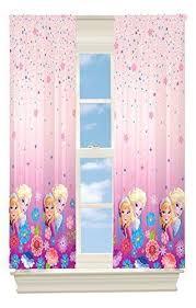 Girls Room Darkening Curtains Disney Frozen Elsa Anna Pink Frozen Themed Bedroom Frozen Bedroom Disney Frozen Bedroom
