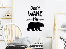 Don T Wake The Bear Kids Room Wall Decal And Nursery Wall Decal Story Of Home Decals