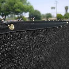 Clevr 6 X 50 Wind Privacy Screen Fence Commercial Grade Fabric Mesh With Durable Grommets Black Set Of 6 300 Long 3 Year Limited Warranty 140gsm