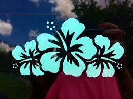 Hibiscus Flower Decals Hibiscus Flower Car Accessories Car Hibiscus Flowers Surfboard Stickers Hibiscus Tattoo