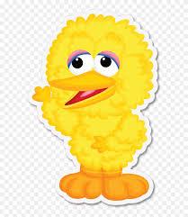 Sesame Street Big Bird Vinyl Stickers Big Bird Clipart 5364165 Pinclipart
