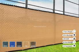 Amazon Com Heavy Duty Fence Privacy Screen 8ft X 50ft Chain Link Fence Cover Shade Cloth With Grommets 1 Tan Garden Outdoor