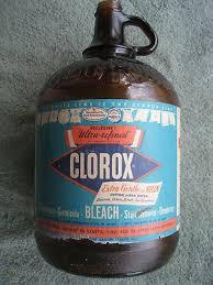 vintage clorox bleach one gallon brown