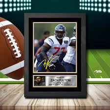 Zach Fulton - Signed Autographed NFL Star Print - Celebrity Poster Prints