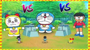 Giant Nobita vs. Doraemon Funny Game in Hindi Cartoon - Đánh bại ...