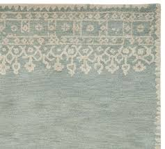 desa bordered wool rug 5 x 8 blue