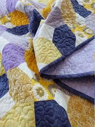 baby girl quilt handmade purple nursery