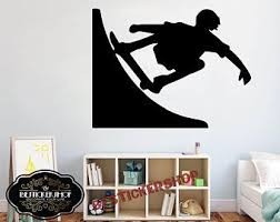 Skater Wall Decal Etsy
