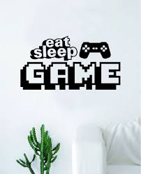 Eat Sleep Game V7 Wall Decal Decor Art Sticker Vinyl Room Bedroom Home Boop Decals