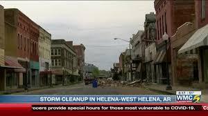 Storm cleanup underway in Helena-West Helena, Ark.