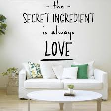 Family Wall Stickers Quotes The Secret Ingredient Is Always Love Living Room Home Decor Happiness Bedroom Wall Decals W384 Wall Stickers Aliexpress