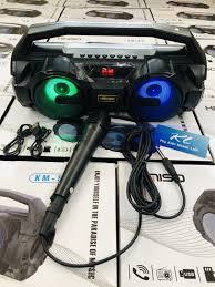 Loa hát karaoke mini cầm tay Kimiso (S1 Black) kèm mic hát kết nối Bluetooth  . Có video hát thực tế