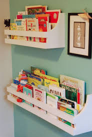White Shelves With Floating Shelves Do Not Put Too High And Put It Where Your Child Can Reach