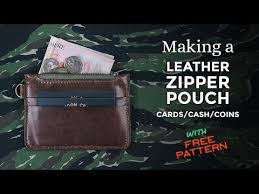 making a leather zipper pouch free