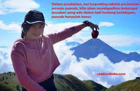 √ kata kata bijak mutiara pendaki gunung caption cinta