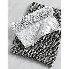 cirrus white bath mat grey bath mat