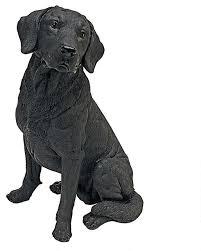 black labrador dog garden statue