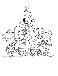 Peanuts Gang Kleurplaat Gratis Kleurplaten Printen