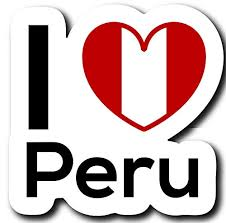 Love Peru Flag Decal Sticker Home Pride Buy Online In Bahamas At Desertcart